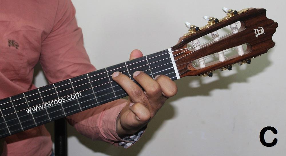 آموزش گیتار جلسه 7 | آکورد C گیتار
