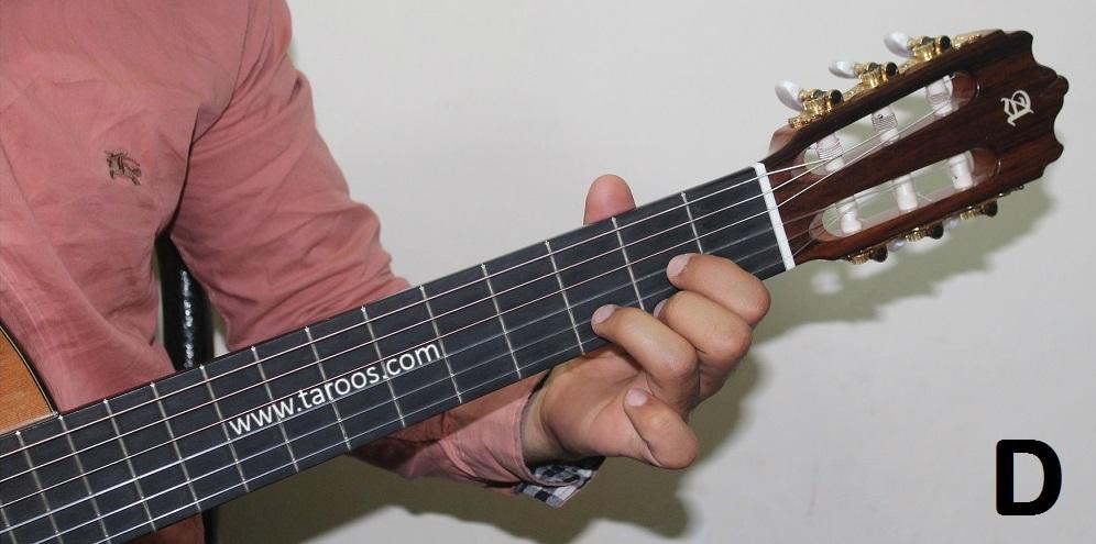 آموزش گیتار جلسه 7 | آکورد D گیتار