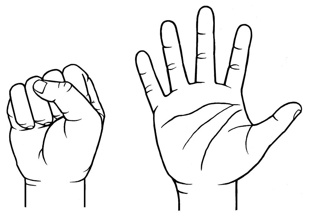 دست خود را مشت کنید!