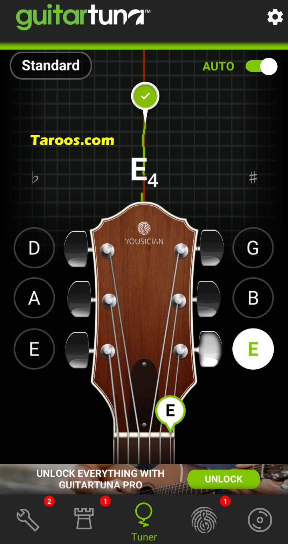 آموزش کوک گیتار با اپلیکیشن موبایل تیونر اندروید
