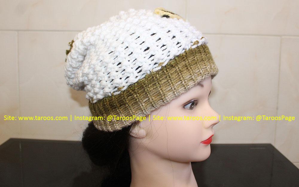 کلاه بافتنی زمستانی دخترانه طرح گیتار